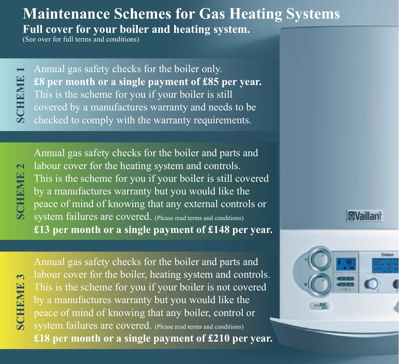 wiltshire boiler maintenance Maintenance Schemes for Gas Heating Systems